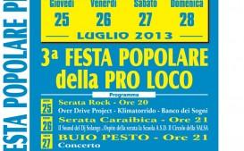3ª Festa Popolare della Pro Loco a Villa Bombrini